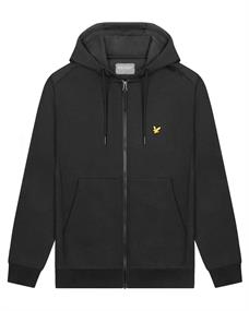 Lyle and Scott Full Zip Fly Fleece Hoodie heren casual sweater zwart