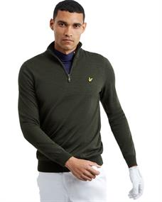 Lyle and Scott Golf Quarter Zip Pullover heren casual sweater donkergroen