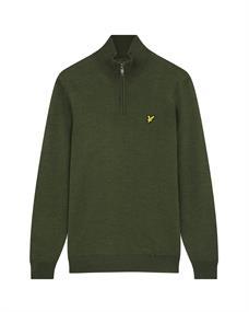 Lyle and Scott Golf Quarter Zip Pullover heren casual sweater midden grijs