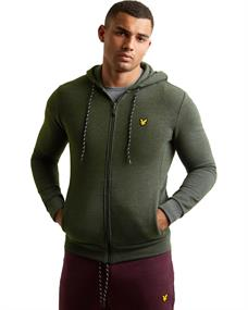 Lyle and Scott Hooded Full Zip heren casual sweater groen