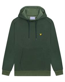 Lyle and Scott OTH Fly Fleece Hoodie heren casual sweater donkergroen