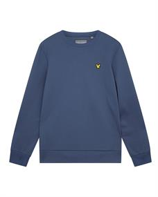 Lyle and Scott Sleeve Tape Crew heren casual sweater blauw