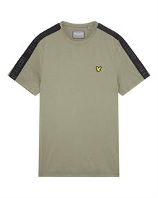 Lyle and Scott Sleeve Tape Stretch Tee heren shirt donkergroen