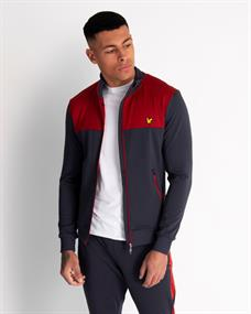Lyle and Scott Tech Track Jacket heren sportsweater bordeau