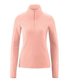 Maier Grote Maten Rose Goldie dames ski pulli met rits pink