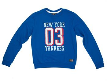 Majestic New York Crew Jongens sweater kobalt