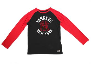 Majestic New York Raglan l/s Jongens sweater ZWART