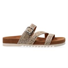 Maruti Bijou HAIRON leather dames slippers ecru