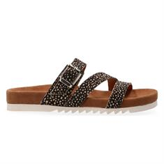 Maruti Bijou HAIRON leather dames slippers zwart