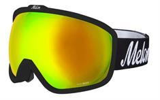 Melon + Gratis 2e LensGold Chrome + Yellow goggle zwart