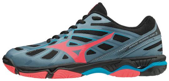 Mizuno Wave Hurricane 3 dames indoorschoenen antraciet