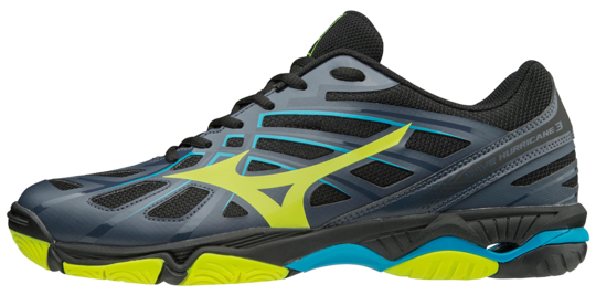 Mizuno Wave hurricane 3 indoorschoenen antraciet