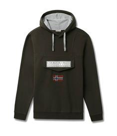 Napapijri Burgee 2 heren casual sweater donkergroen
