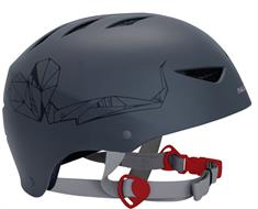 Nijdam 75CF Antraciet bmx/skate helm antraciet