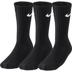 Nike 3 paar Cush Crew 3 pack sportsokken zwart