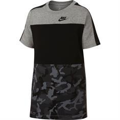Nike Aop Camo Tee jongens sportshirt antraciet