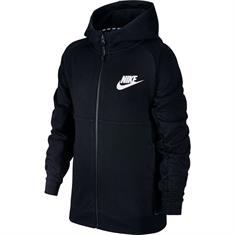 Nike AV15 Hoodie jongens sportsweater zwart