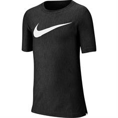 Nike B NK CORE SS PERF TOP HTHR.BLACK/BL jongens sportshirt zwart
