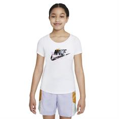 Nike Big Kids meisjes sportshirt wit