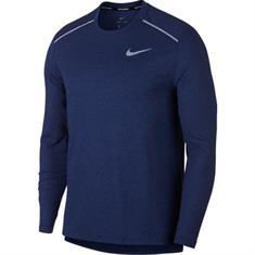 Nike Breathe Rise 365 heren hardloopshirt lange mouwen denim