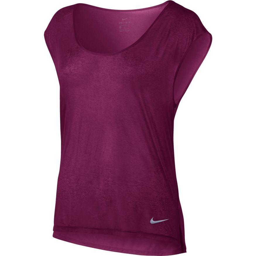 55289365ba3 Nike Breathe Top Cool dames sportshirt paars