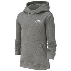 Nike CLUB Hoodie jongens sportsweater midden grijs