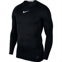 Nike Comp top longsleeve heren compressie shirt zwart
