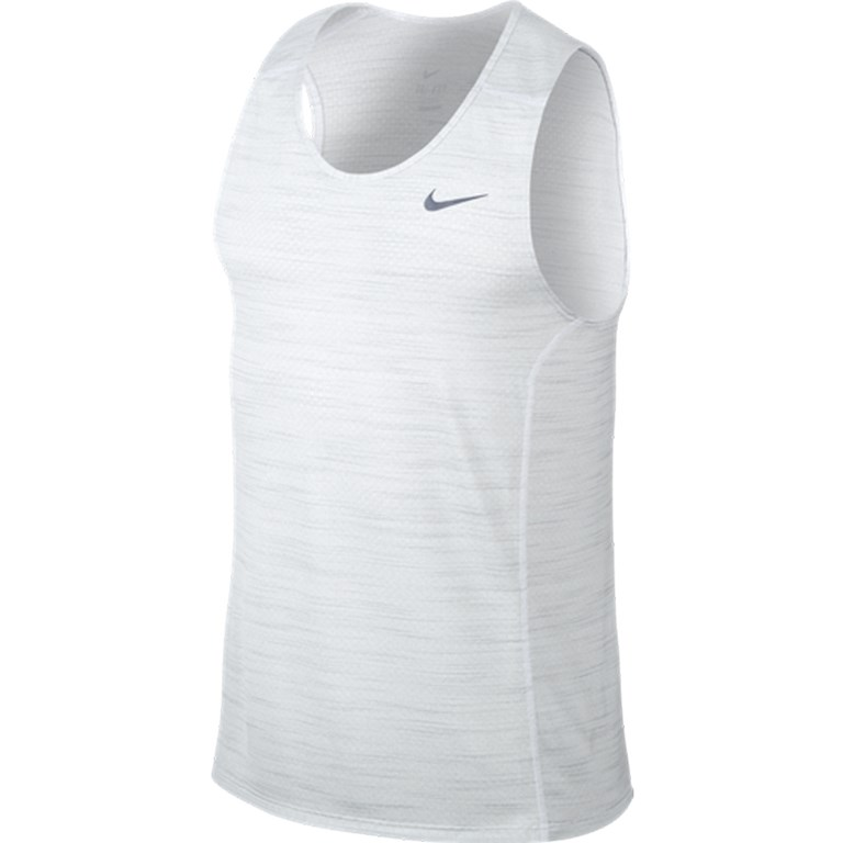 Nike Cool Miller Singlet Heren hardloopshirt WIT ...