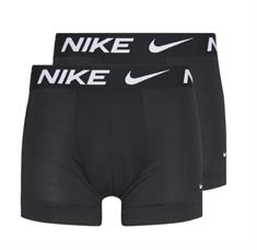 Nike Cotton Stretch 2 Pack boxershorts zwart