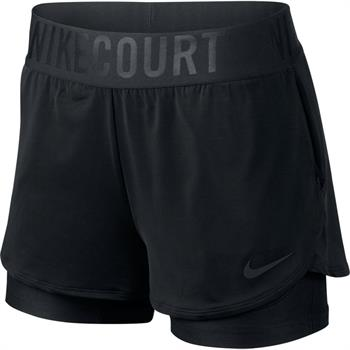 Nike Court Dry Ace Short Dames tennisshorts ZWART
