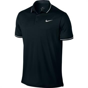 Nike Court Dry polo Heren tennisshirt ZWART