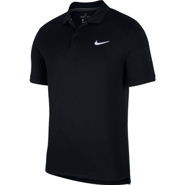 Nike Court Dry Polo heren tennisshirt zwart
