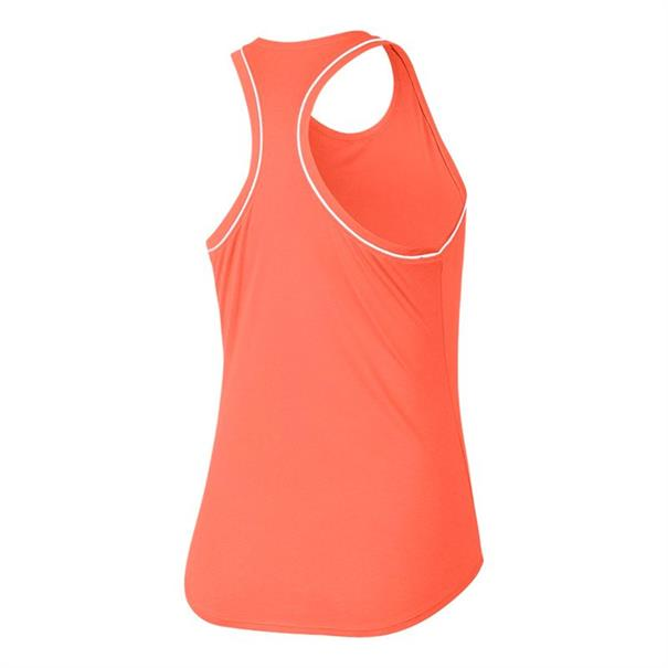 Nike Court Dry Tank dames shirt oranje