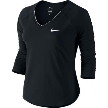 Nike Court Pure top Dames shirt ZWART