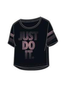 Nike Crop Tee meisjes sportshirt zwart