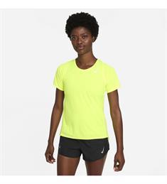 Nike Dri-Fit Race dames sportshirt geel