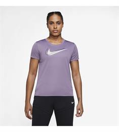 Nike Dri-Fit Swoosh Run dames sportshirt grijs