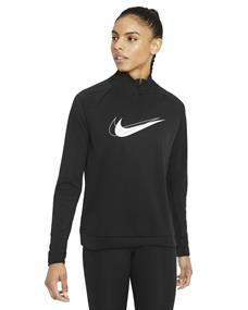 Nike Dri-Fit Swoosh Run dames sportsweater zwart