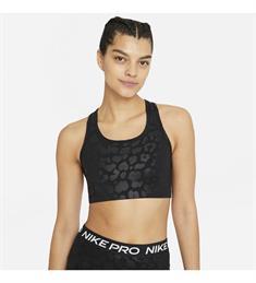 Nike Dri-Fit Swoosh sport bh zwart