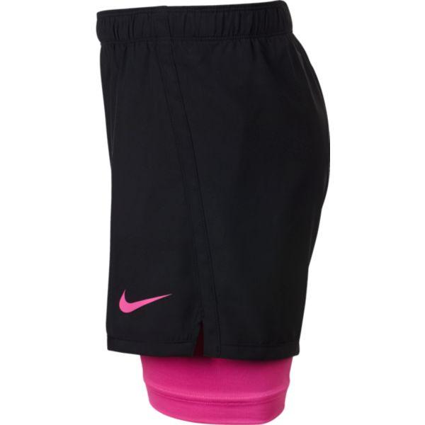 Nike Dry 2in1 Short meisjes sportshort zwart
