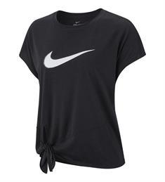 Nike Dry Side Tie Top dames sportshirt zwart