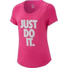 Nike Dry Tee Scoop meisjes sportshirt fuchsia
