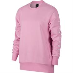 Nike Dry top crew grx dames sportsweater rose