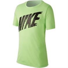 Nike Dry Top jongens sportshirt lime groen