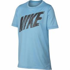 Nike Dry Top SS jongens sportshirt aqua-azur