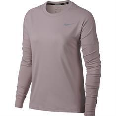 Nike Element Top LS dames hardloopshirt lange mouwen rose