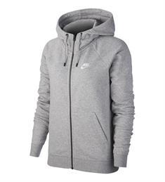 Nike Essential Hoodie dames sportsweater midden grijs