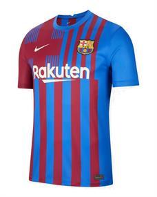 Nike FC Barcelona 2021/22 Staduim Thuis heren voetbalshirt blauw dessin