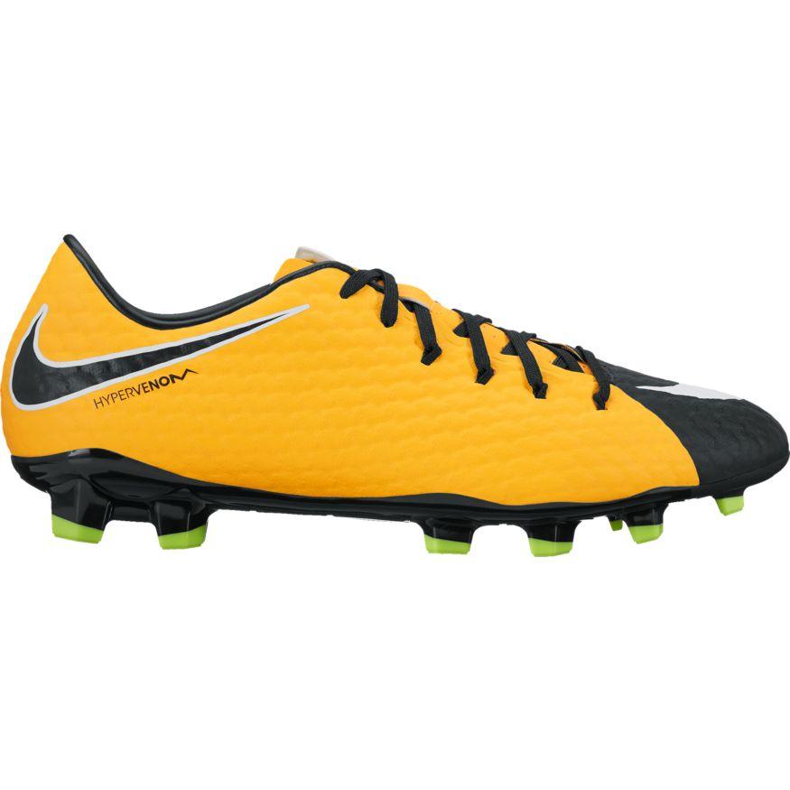 Nike hypervenom phelon iii (fg) heren voetbalschoenenval op in het veld met deze oranje voetbalschoenen van ...