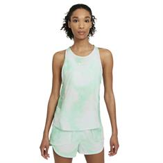 Nike Icon Clash City Sleek dames singlet groen dessin